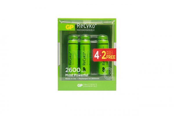 4+2 AA GP Recyko+ blister 2600mAh